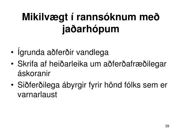 Mikilvægt í rannsóknum með jaðarhópum