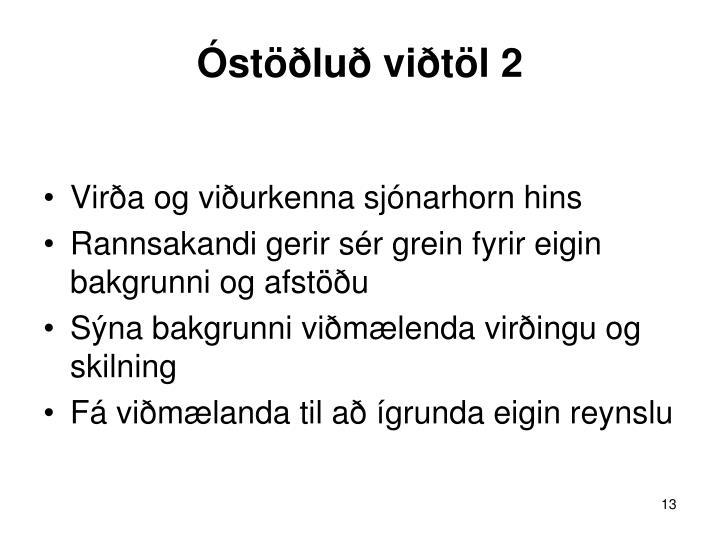 Óstöðluð viðtöl 2