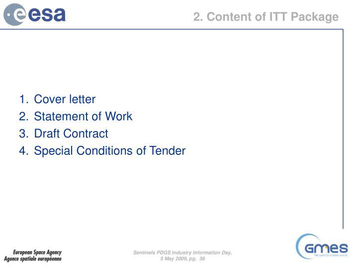 2. Content of ITT Package