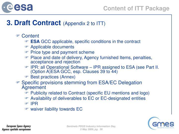 Content of ITT Package