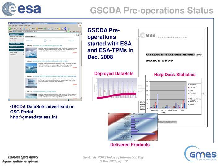 GSCDA Pre-operations Status