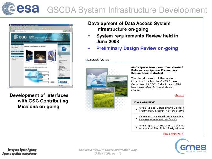 GSCDA System Infrastructure Development