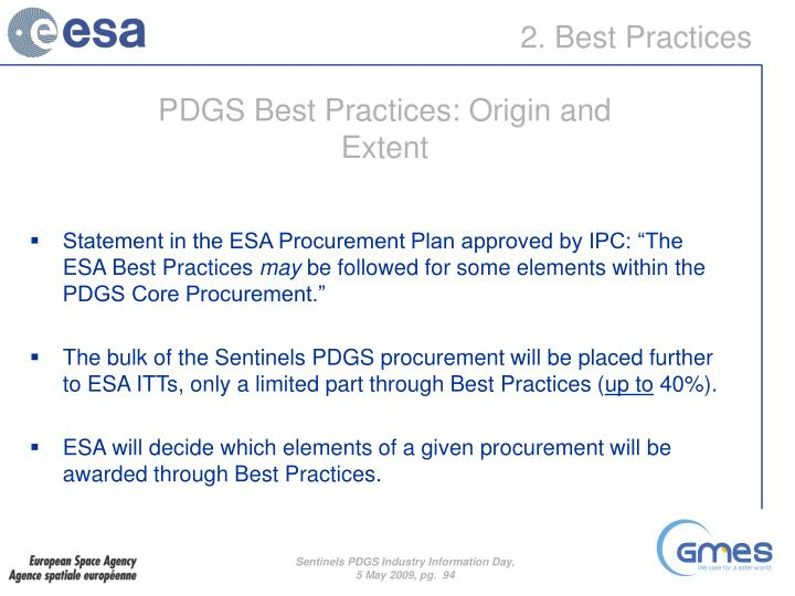 PDGS Best Practices: Origin and Extent