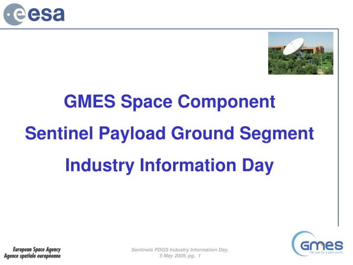 GMES Space Component