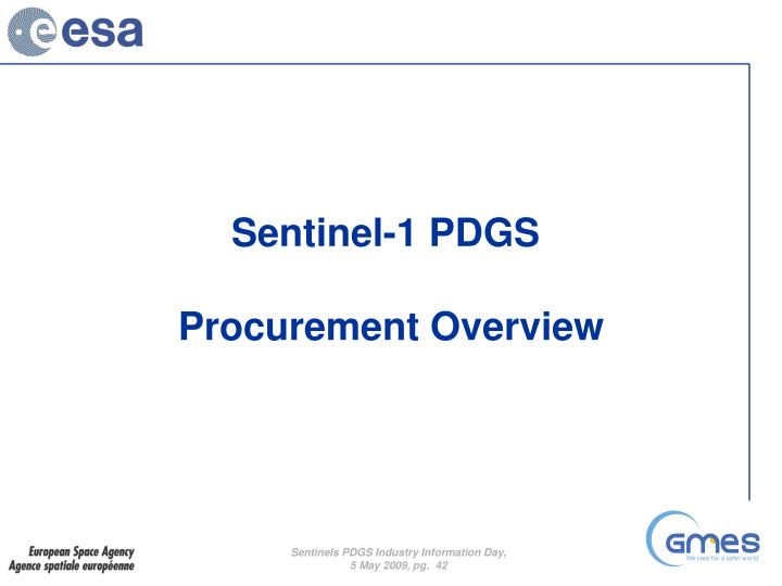Sentinel-1 PDGS