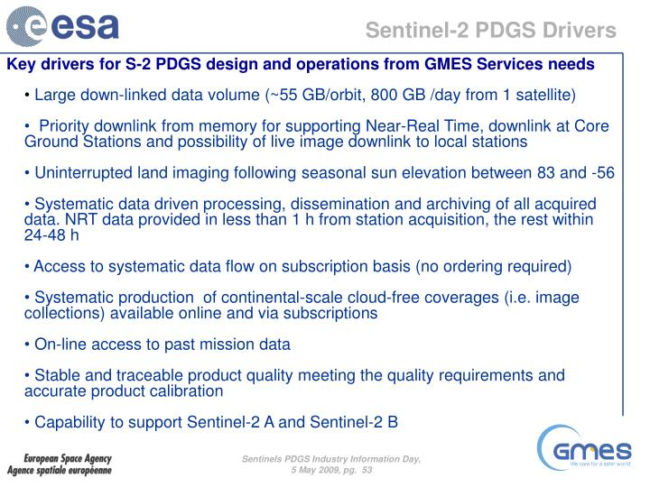 Sentinel-2 PDGS Drivers
