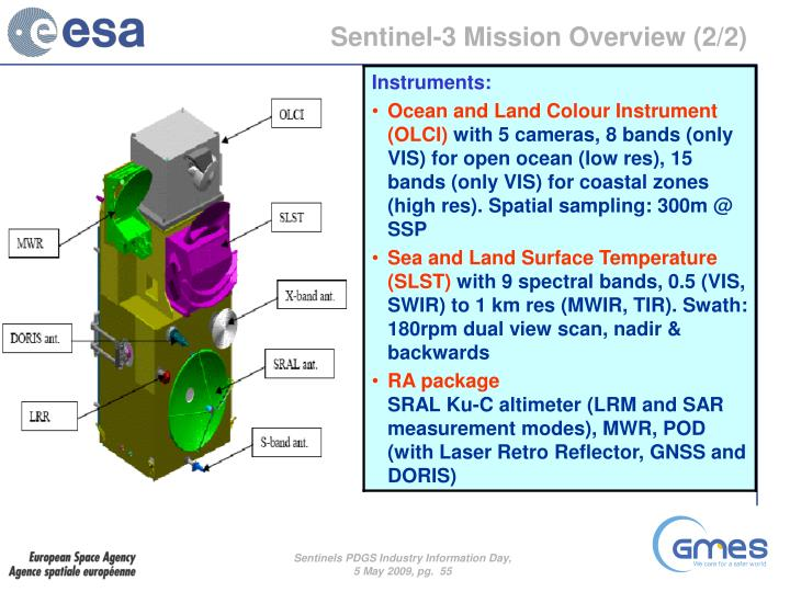 Sentinel-3 Mission Overview (2/2)