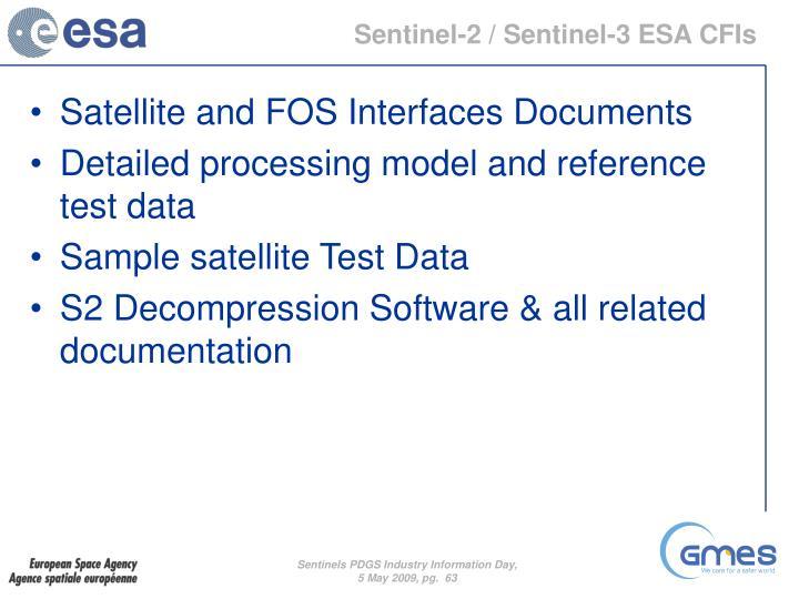 Sentinel-2 / Sentinel-3 ESA CFIs