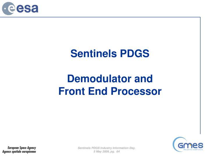 Sentinels PDGS