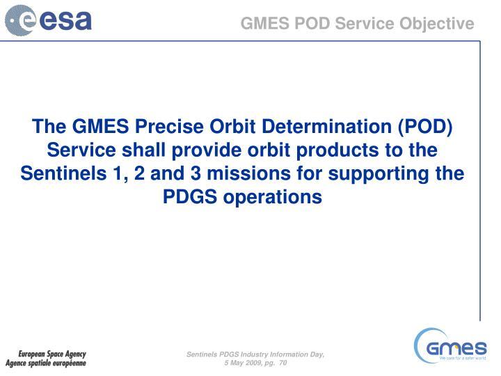 GMES POD Service Objective