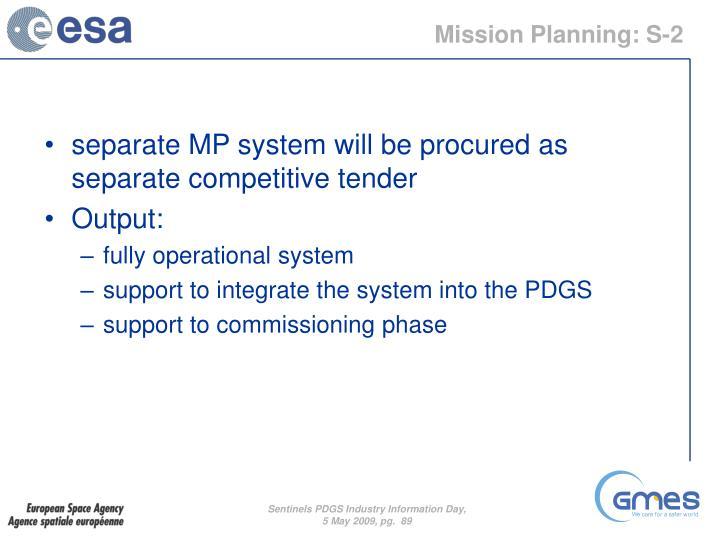 Mission Planning: S-2