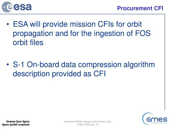 Procurement CFI