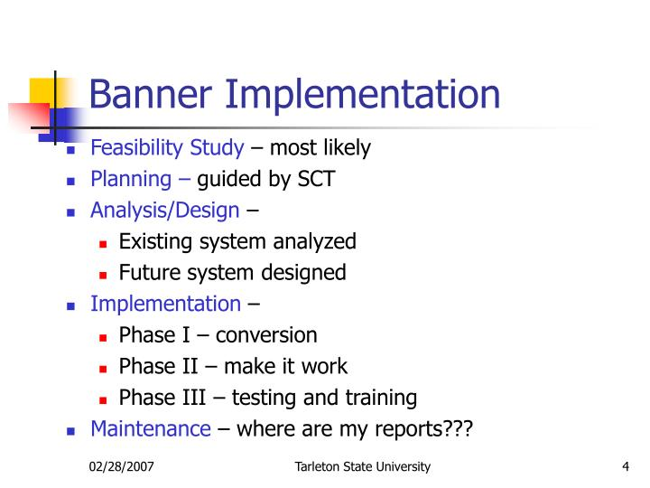 Banner Implementation