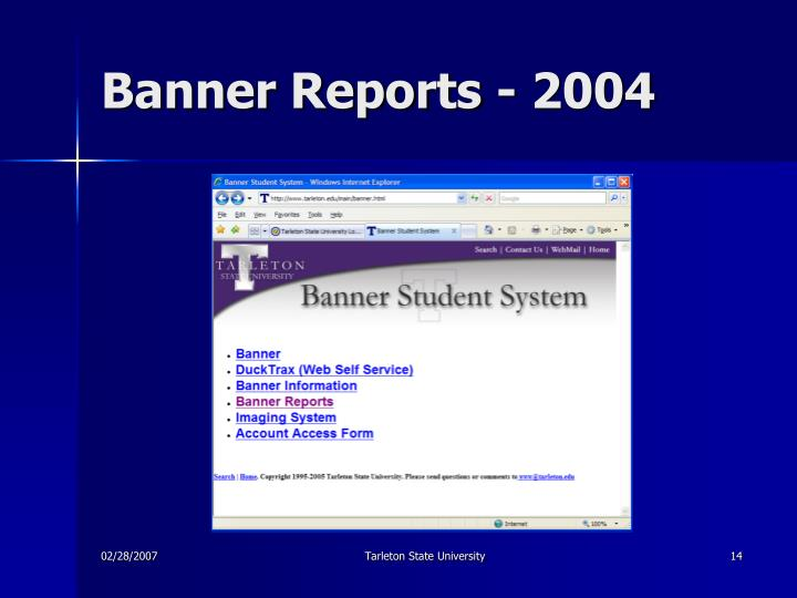 Banner Reports - 2004