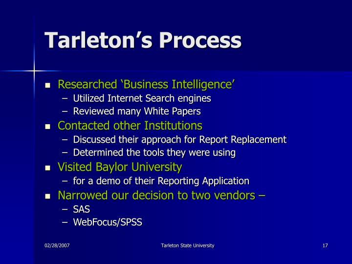 Tarleton's Process