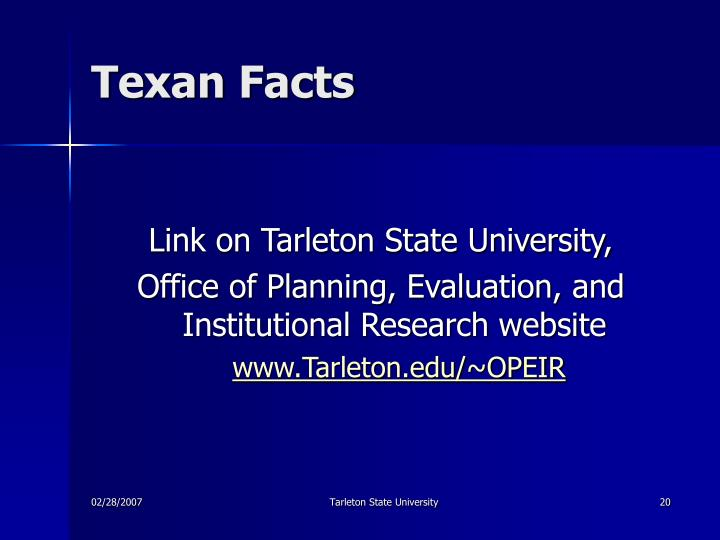 Texan Facts