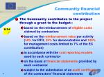 community financial contribution