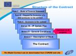 structure of the contract