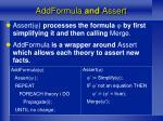 addformula and assert