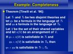 example completeness