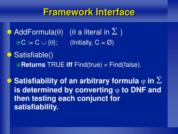 Framework Interface