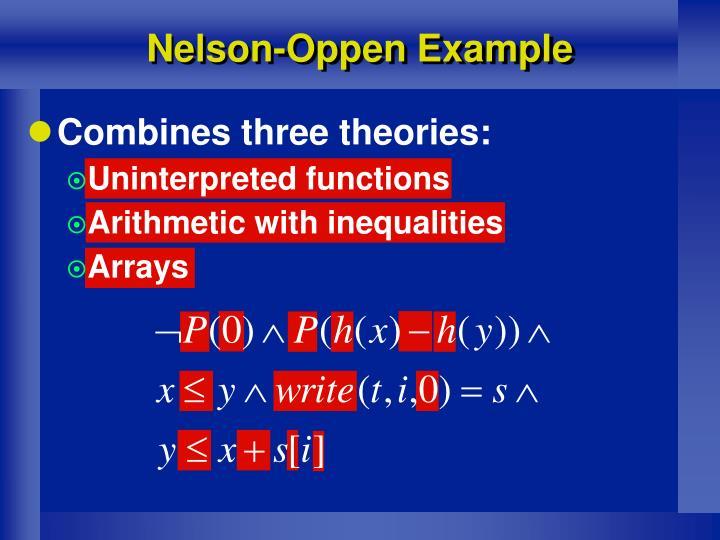 Nelson-Oppen Example