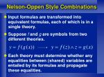 nelson oppen style combinations