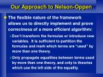 our approach to nelson oppen