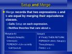 setup and merge