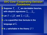 svc core cooperating decision procedures