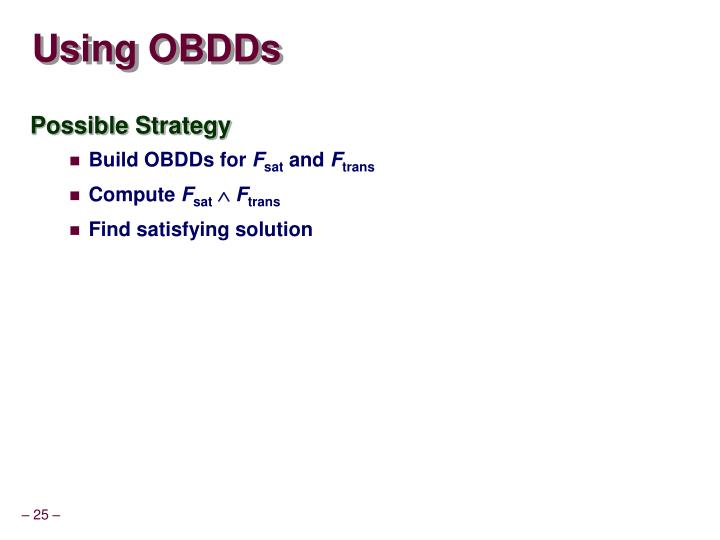 Using OBDDs