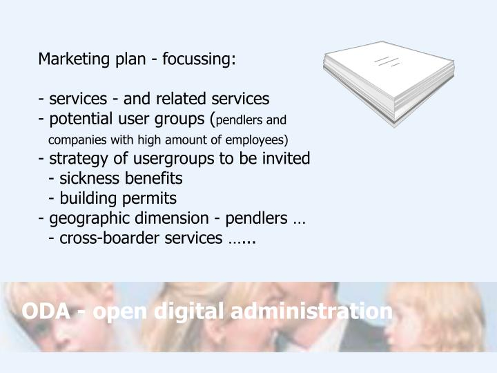 Marketing plan - focussing: