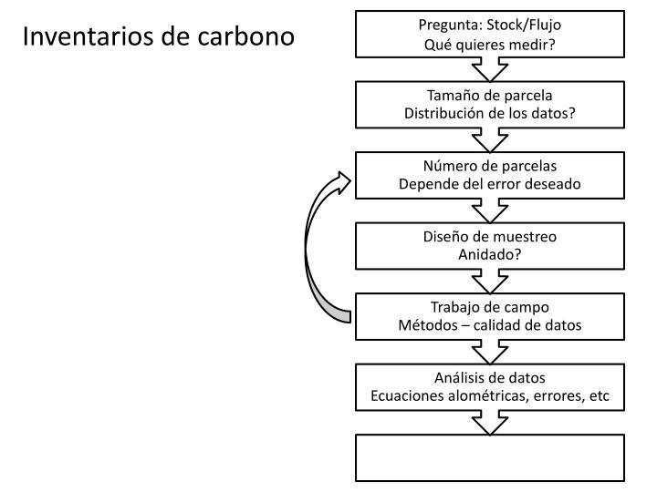 Inventarios de carbono