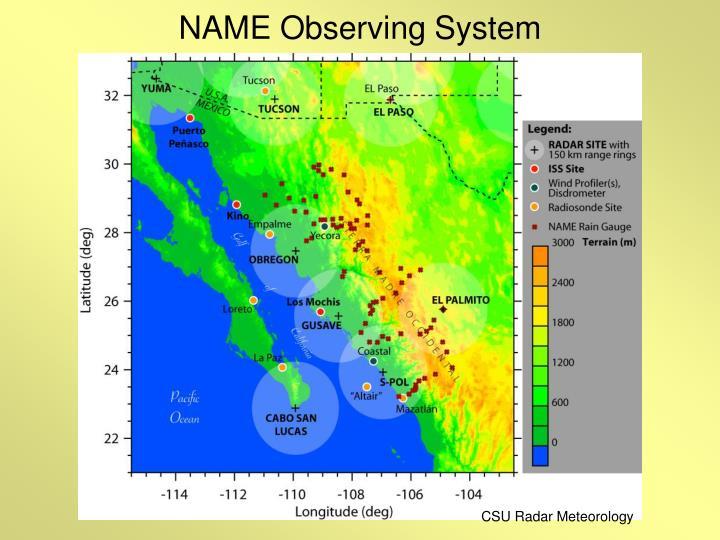NAME Observing System