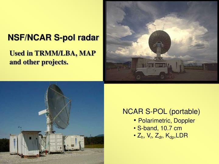 NSF/NCAR S-pol radar