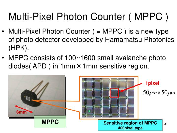 Multi-Pixel Photon Counter ( MPPC )