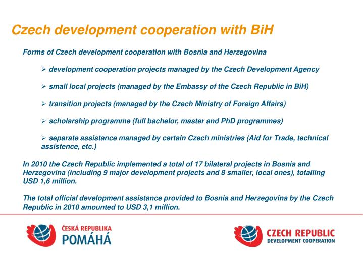 Czech development cooperation with BiH
