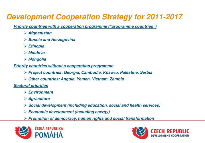 Development Cooperation Strategy for 2011-2017