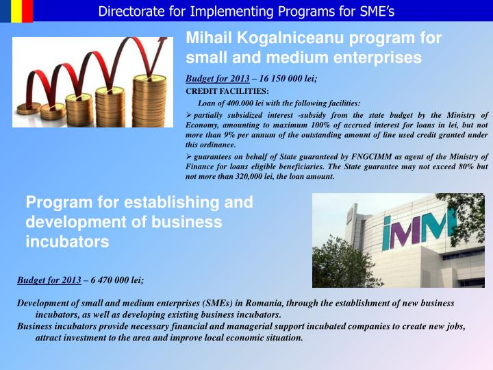 Directorate for Implementing Programs for SME's