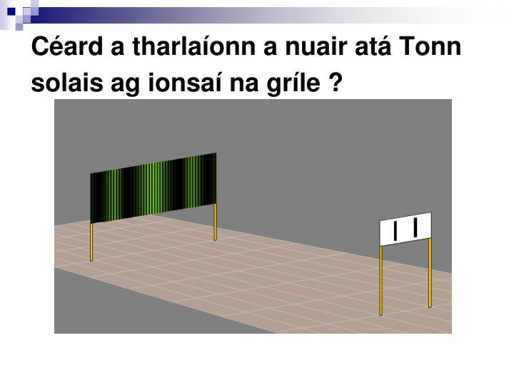 Céard a tharlaíonn a nuair atá Tonn solais ag ionsaí na gríle ?