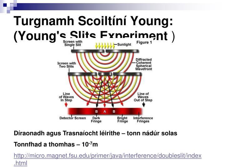 Turgnamh Scoiltíní Young: (Young's Slits Experiment