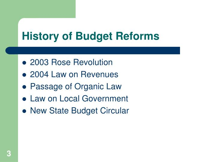 History of budget reforms