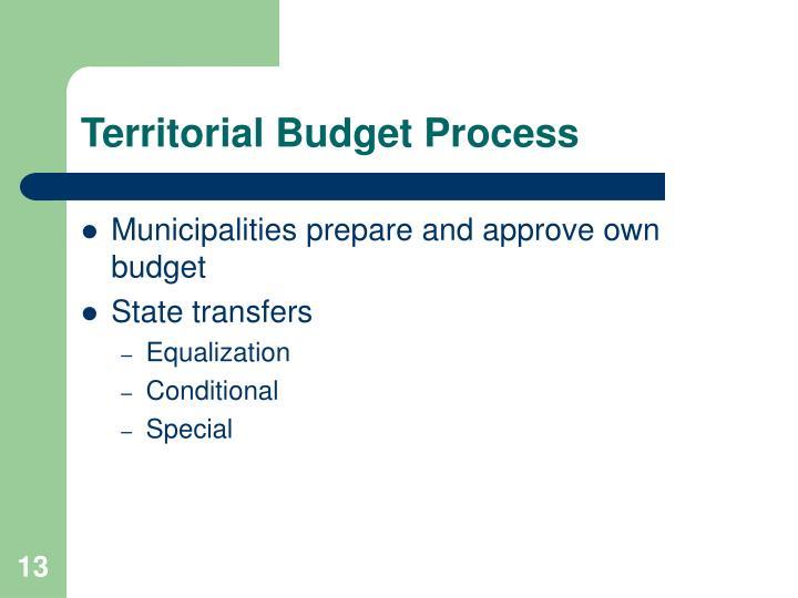 Territorial Budget Process