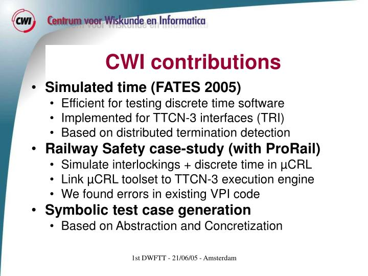 CWI contributions