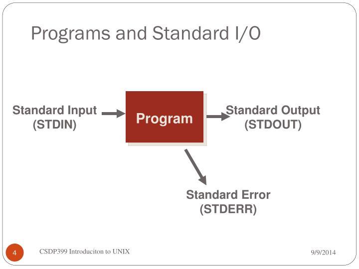 Programs and Standard I/O