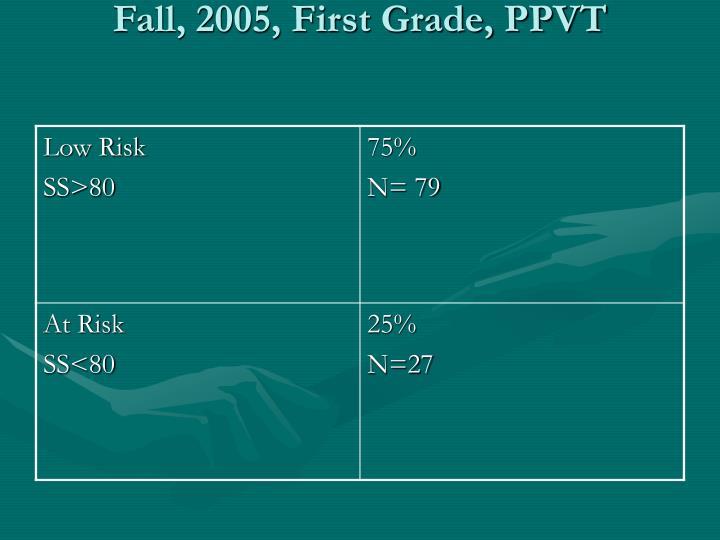 Fall, 2005, First Grade, PPVT