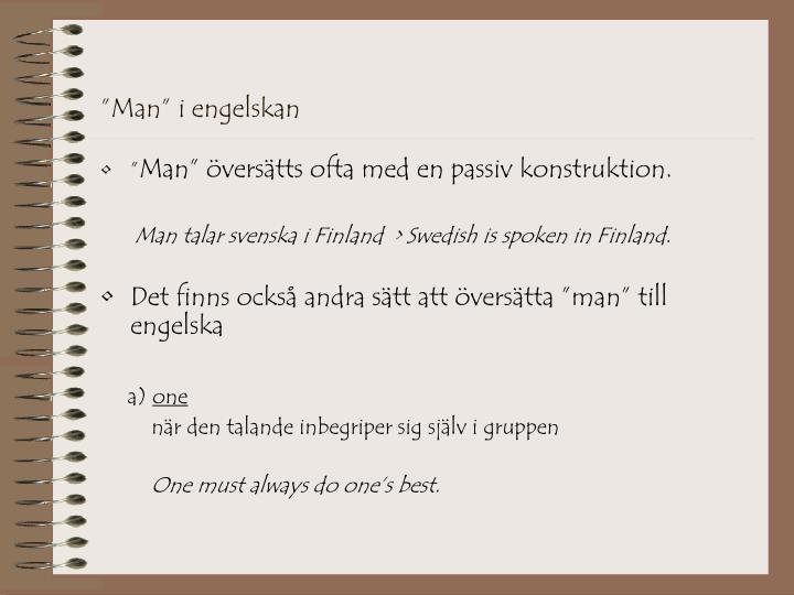 """Man"" i engelskan"