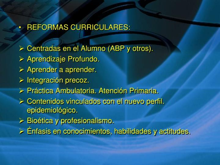 REFORMAS CURRICULARES: