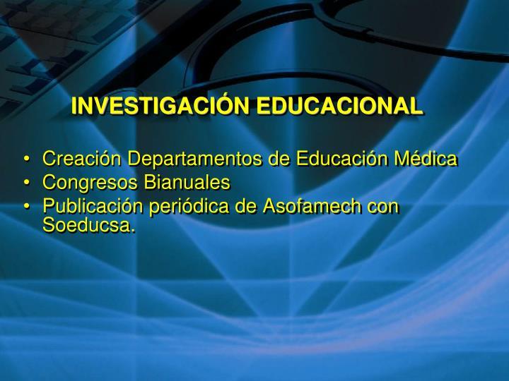 INVESTIGACIÓN EDUCACIONAL