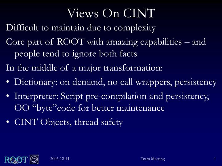 Views on cint